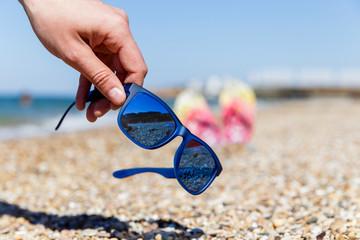 Sun glasses in summer day