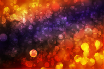 Abstract image of circles and bokeh on color background