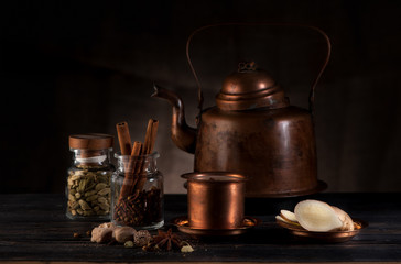 masala chai, spices and spicy