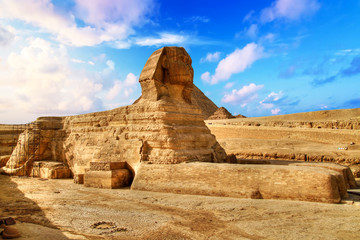 Egyptian Sphinx in Giza near Cairo