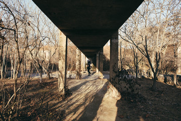 Under the bridge ..