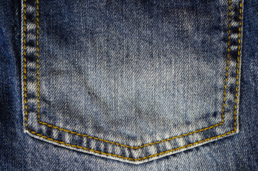 photograph of a piece of denim fabric