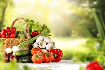 vegetables and spring time