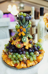 Amazing fruits composition for the buffet table