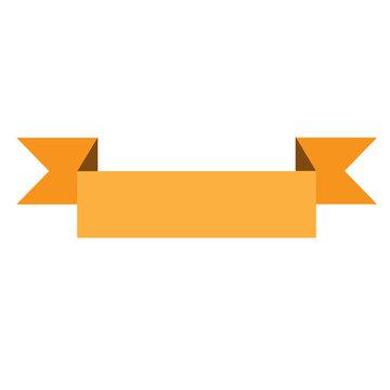 yellow ribbon banner on white background. yellow ribbon banner s