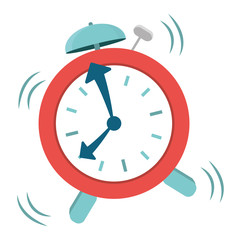 alarm clock icon image vector illustration design