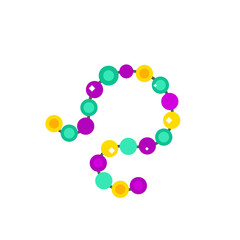 Colorful Mardi Gras beads icon