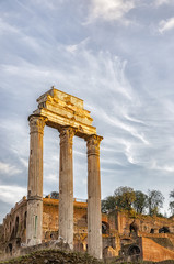 Rome Temple of Castor and Pollux