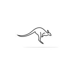 Kangaroo Logo Line