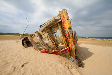 Boat at Braunton Burrows