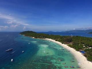 Aerial view on tropical Ko Lipe island
