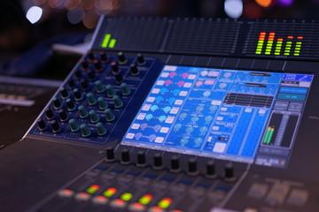 Digital audio mixer screen