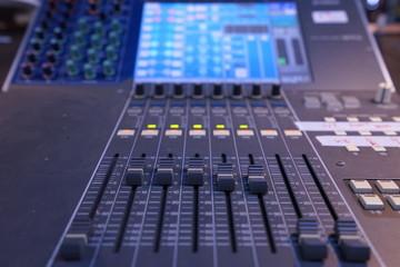 Fader on digital audio mixer