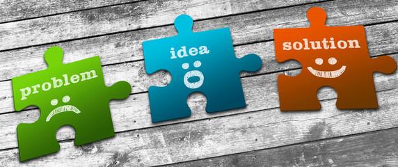 Business Concept: Problems, Ideas & Solutions