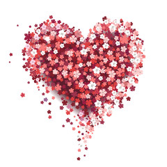 Beautiful floral heart. Valentine card. Vector illustration EPS10.