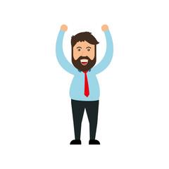 successful businessman cartoon icon vector illustration graphic design