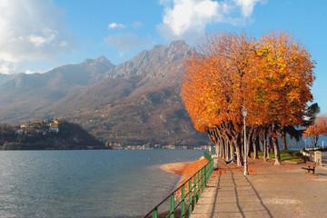 Embankment on Lake Como. Lekko, Italy
