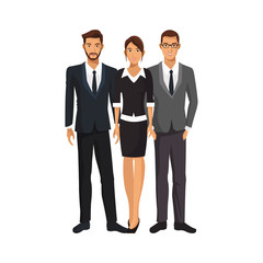 group of business people over white backgorund.colorful design. vector illustration