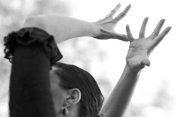 Manos bailando flamenco