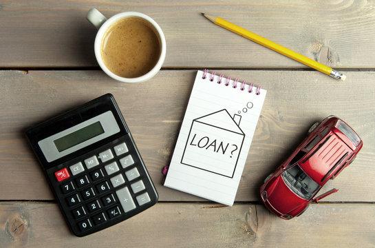 Home loan finances concept