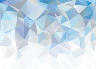 Blue White Polygonal Mosaic Background. Abstract blue background