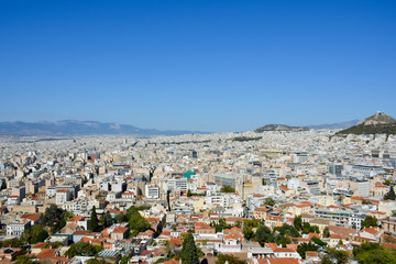 Top view of Athens