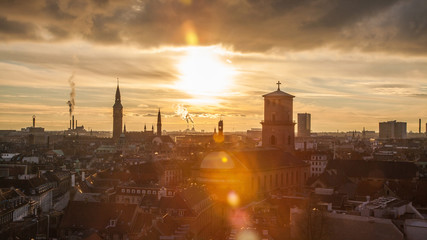 Copenhagen - the capital and most populous city of Denmark. A popular place for tourists and travelers. Impressed by a historic old town and special architecture.