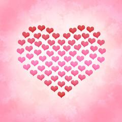 Valentinstag Hintergrund Herz aus Herzen