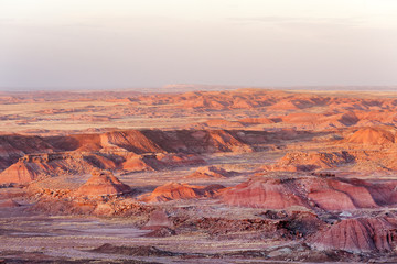 Colorful sandstone of Painted Desert in Petrified Forest National Park, Arizona