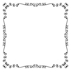 Vintage vector frame and borde