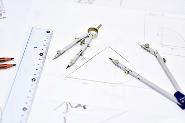 The process of creating the drawing.
