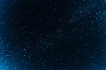 milky way with many bright stars on dark blue background