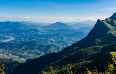 View from Doi Pha Tang viewpoint ,Chiang Rai province in Thailan