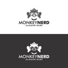 Monkey Nerd Logo in Vector