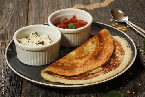 """""""Dosa - South Indian breakfast crepes made of rice and ..."""