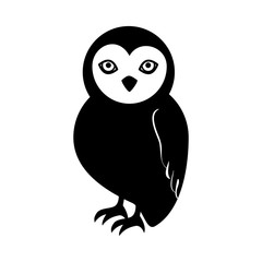 owl halloween card icon vector illustration design
