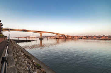 Itchen Bridge over the River Itchen in Southampton
