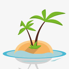 desert island palm sea design vector illustration eps 10