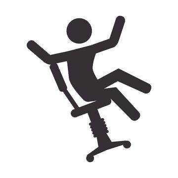 human silhouette accident icon vector illustration design