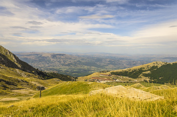 Campitello Matese - Veduta panoramica dalla vetta del comprensorio sciistico