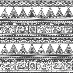 Native American Black and White Pattern