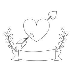 figure bird shaped heart icon image, vector illustration