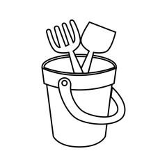 sand bucket baby toy icon vector illustration design