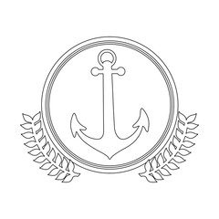 symbol figure anchor icon image, vector illustration