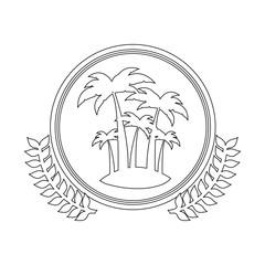 symbol figure island icon image, vector illustration