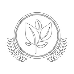 symbol leaves conservancy icon image, vector illustration
