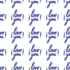 Hand drawn poster with Lettering I love you