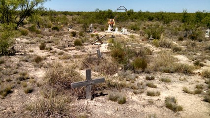 Old Ghost Town Cemetery in West Texas