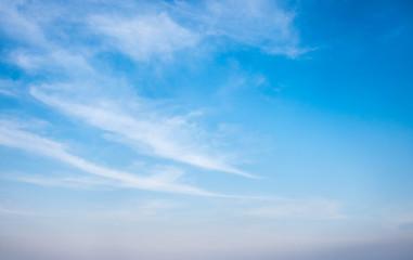 Cloud in bright blue sky. Natural landscape wallpaper background