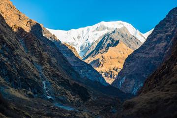 beautiful snow mountain in Annapurna sanctury